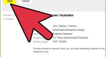 Online posting of resume